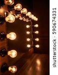 lighting in dressing room | Shutterstock . vector #590674331
