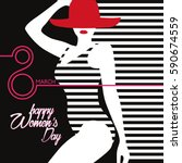 woman's day illustration | Shutterstock .eps vector #590674559