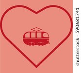 tram icon   Shutterstock .eps vector #590681741