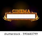 theater sign.cinema sign.las... | Shutterstock .eps vector #590683799