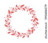 organic frame. | Shutterstock .eps vector #590686079