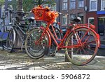 orange bike designed with fall... | Shutterstock . vector #5906872