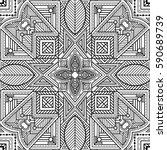 symmetric linear ornament... | Shutterstock .eps vector #590689739