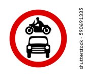 no motor vehicles sign | Shutterstock .eps vector #590691335