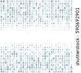 binary code digital technology... | Shutterstock .eps vector #590692901