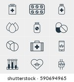 illustration of 12 medicine... | Shutterstock . vector #590694965