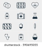 illustration of 12 medical... | Shutterstock . vector #590695055