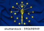 flag of indiana state  usa    Shutterstock . vector #590698949