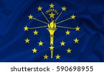 flag of indiana state  usa    Shutterstock . vector #590698955
