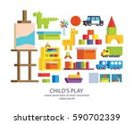 a set of furniture for children'... | Shutterstock .eps vector #590702339