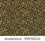 leopard pattern  vector ... | Shutterstock .eps vector #590703131