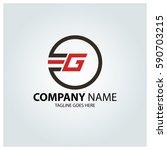 letter g logo design template.... | Shutterstock .eps vector #590703215