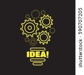 completing idea vector.... | Shutterstock .eps vector #590707205