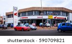 shopping center selling modern... | Shutterstock . vector #590709821