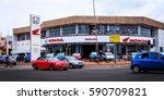 shopping center selling modern... | Shutterstock . vector #590709821