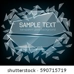 vector transparent broken glass ... | Shutterstock .eps vector #590715719