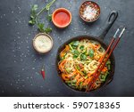 starch  rice  potato  noodles... | Shutterstock . vector #590718365