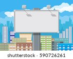 empty urban big board or... | Shutterstock .eps vector #590726261