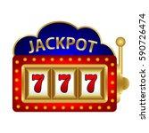 jackpot on a slot machine ... | Shutterstock .eps vector #590726474