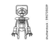 robot cartoon icon | Shutterstock .eps vector #590735039
