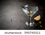 Cocktail Martini With Olives...