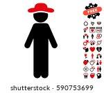 standing gentleman icon with... | Shutterstock .eps vector #590753699