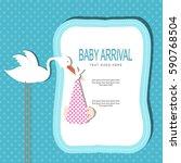 baby arrival | Shutterstock .eps vector #590768504