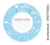 dentist  orthodontics medical... | Shutterstock .eps vector #590770301