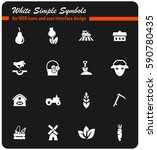 agriculture vector icons for... | Shutterstock .eps vector #590780435