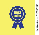 award icon with best seller | Shutterstock .eps vector #590780549