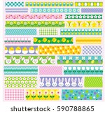 easter washi tape clipart | Shutterstock .eps vector #590788865