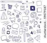 web doodles | Shutterstock .eps vector #59079187
