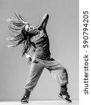 young beautiful dancer posing...   Shutterstock . vector #590794205