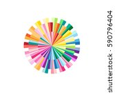 abstract colorful circular... | Shutterstock .eps vector #590796404