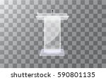 transparent podium tribune... | Shutterstock .eps vector #590801135