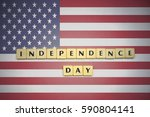 letters with text independence... | Shutterstock . vector #590804141