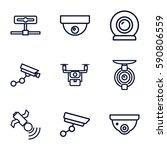 surveillance icons set. set of... | Shutterstock .eps vector #590806559