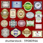 vintage labels set | Shutterstock .eps vector #59080966