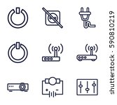 switch icons set. set of 9...   Shutterstock .eps vector #590810219