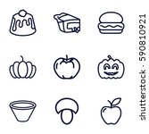 nutrition icons set. set of 9... | Shutterstock .eps vector #590810921