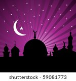 an islamic greeting card for... | Shutterstock .eps vector #59081773
