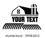 2d,art,barn,black,building,circular,country,cylinder,design,door,element,farm,farming,field,granger