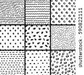 hand drawn seamless pattern... | Shutterstock .eps vector #590822111