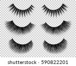 lashes set. false eyelashes... | Shutterstock .eps vector #590822201
