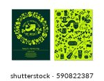 set of happy st. patrick's day... | Shutterstock .eps vector #590822387