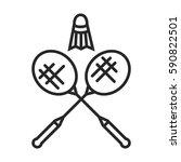 badminton vector icon