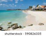 caribbean beach resort | Shutterstock . vector #590826335