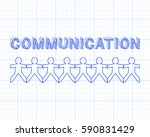 communication text hand drawn... | Shutterstock .eps vector #590831429