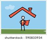 life insurance illustration  | Shutterstock .eps vector #590833934