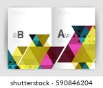 vector triangle print template. ... | Shutterstock .eps vector #590846204